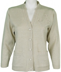 Tradtional Ladies Care Cardigan With Pockets
