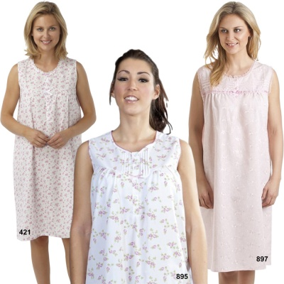 A Selection Of Sleevless Nightdresses
