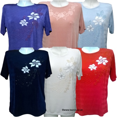Short Sleeve Tops By Trendy Touch