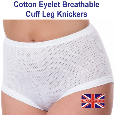 Eyelet Ladies Cotton Breathable Knickers