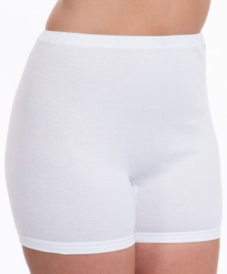 Ladies Cotton Interlock Long Knickers