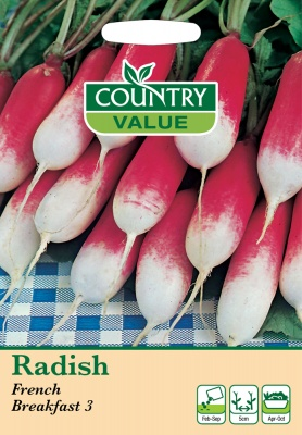 Radish Seeds French Breakfast 3 by Country Value