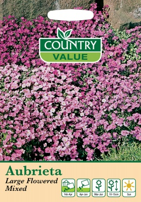 Aubrieta Seeds Large Flowered Mixed by Country Value