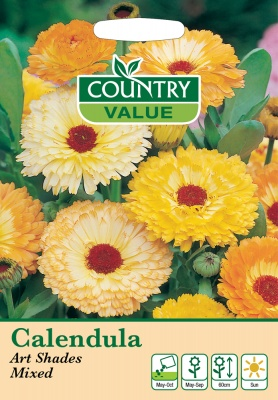 Calendula Art Shades Mixed Seeds by Country Value