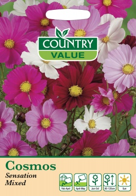 Cosmos Sensation Mixed Seeds by Country Value