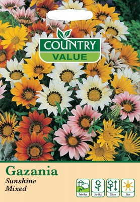 Gazania Seeds Sunshine Mix by Country Value