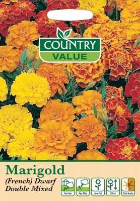 Marigold Seeds French Dwarf Double Mixed by Country Value