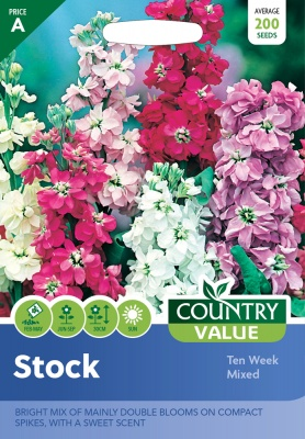 Stock Seeds Ten Week Mixed by Country Value