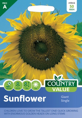 Sunflower Giant Single Seeds by Country Value