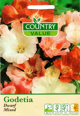 Godetia Seeds 'Dwarf Mixed' Flower Seeds by Country Value