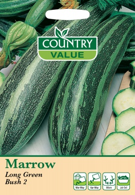 Marrow Seeds Long Green Bush by Country Value