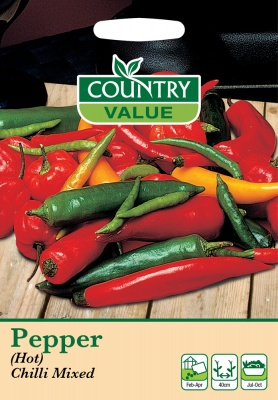 Pepper 'Chilli Mixed' Hot by Country Value