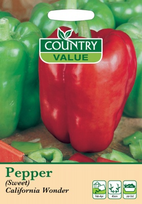 Pepper 'Californian Wonder' Sweet by Country Value