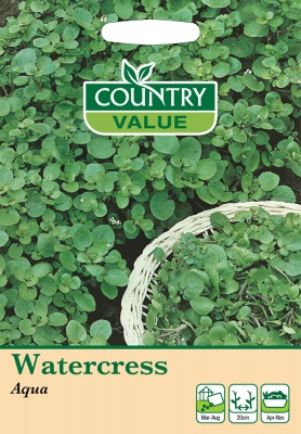 Watercress Seeds 'Aqua' by Country Value