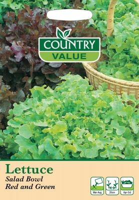 Lettuce Seeds Red Green Salad Bowl by Country Value