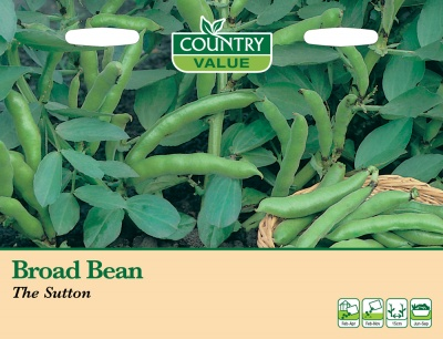 Broad Bean Seeds 'The Sutton' by Country Value