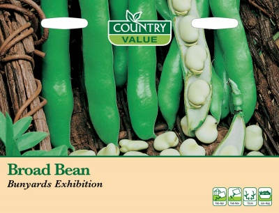 Broad Bean Seeds 'Bunyards Exhibition' by Country Value