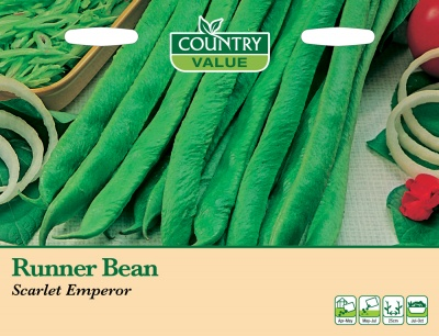 Runner Bean 'Scarlet Emperor' by Country Value