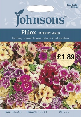 Phlox Seeds 'Tapestry Mixed' by Johnsons