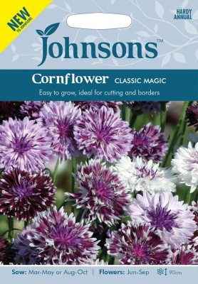 Cornflower Seeds 'Classic Magic' by Johnsons