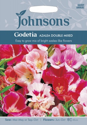 Godetia Seeds Azalea Double Mixed by Johnsons
