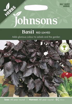 Basil Red Leaved Johnsons Seeds FREE UK DELIVERY