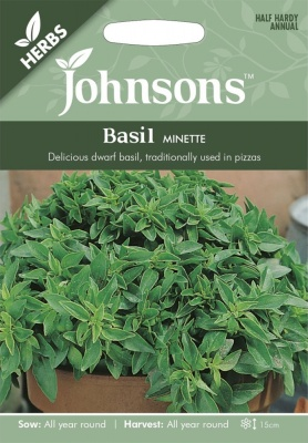 Basil Minette Seeds By Johonsons Seeds (Approx 300 Seeds)