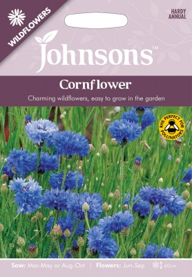 Cornflower Seeds 'Wildflowers' by Johnsons