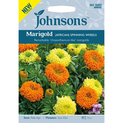 Marigold Seeds 'African Spinning Wheels' by Johnsons
