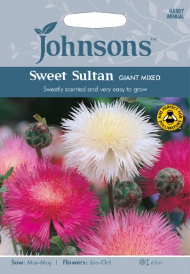 Sweet Sultan Seeds 'Giant Mixed' by Johnsons