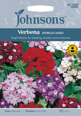 Verbena 'Sparkles Mixed' Seeds by Johnsons