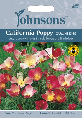 California Poppy Seeds 'Carmine King' by Johnsons