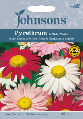 Pyrethrum Seeds 'Single Mixed' by Johnsons