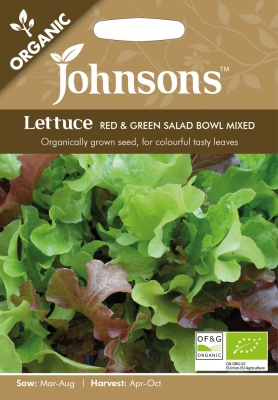Organic Lettuce Seeds 'Red & Green Salad Bowl' by Johnsons