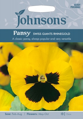 Giant Pansy Seeds 'Swiss Giants Rhinegold' by Johnsons