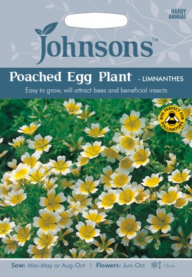 Poached Egg Plant Seeds 'Limnanthes' by Johnsons