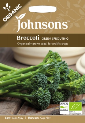 Organic Broccoli 'Green Sprouting' by Johnsons