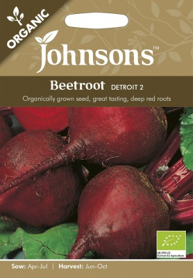 Organic Beetroot Seeds 'Detroit 2' by Johnsons