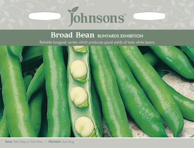 Broad Bean Seeds 'Bunyards Exhibition' by Johnsons