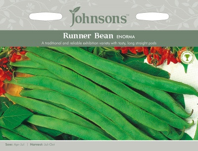 Runner Bean Seeds 'Enorma' by Johnsons
