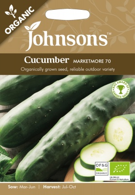 Organic Cucumber Seeds Marketmore 70 by Johnsons