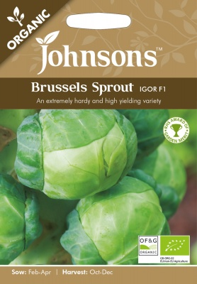 Organic Brussel Sprout Seeds Igor F1 by Johnsons