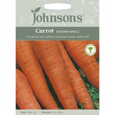 Carrot Seeds Autumn King 2 by Johnsons