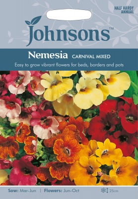 Nemesia 'Carival Mixed' Seeds by Johnsons