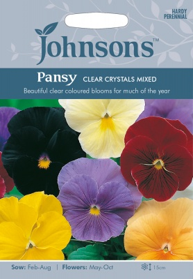 Pansy 'Clear Crystals Mixed' Seeds by Johnsons