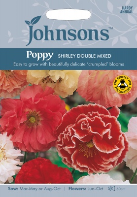 Poppy Seeds 'Shirley Double Mixed' by Johnsons