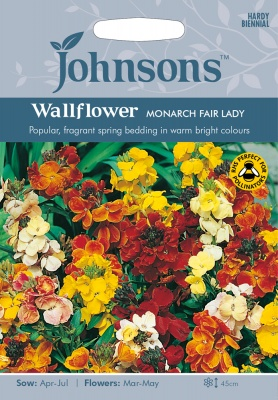 Wallflower Seeds 'Monarch Fair Lady' by Johnsons