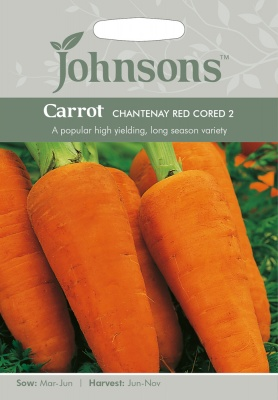 Carrot 'Chantenay Red Cored 2' Seeds by Johnsons