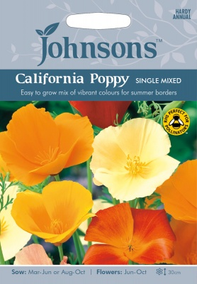 California Poppy Seeds 'Single Mixed' by Johnsons