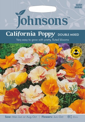 California Poppy Seeds 'Double Mixed' by Johnsons